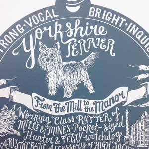Yorkshire Terrier Print Detail by Debbie Kendall
